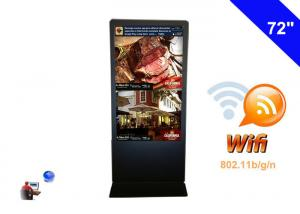 China Quad Core Android WIFI Digital Signage Network Kiosk LCD Digital Display 72 inch on sale