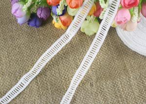 China Polyester Ladder Water Soluble Chemical Lace Trim By The Yard Good Color Fastness on sale