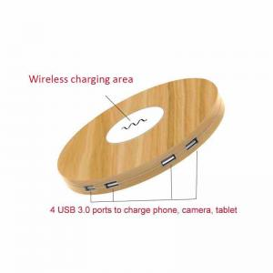 China 125g Lightweight Wireless Phone Charger Dc24v 2000ma  Input Quick Charge 2.0 Technology on sale