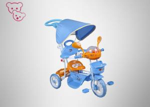 China Flexiable Armrest Kids Metal Trike , Canopy / Push Bar Tricycle Bike For Baby on sale