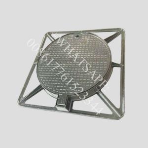 China d400 850x850  waterproof lockable bolted  ductile iron plaque en fonte pour regard on sale