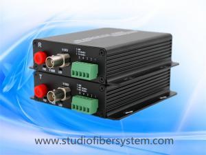 China outdoor HDCVI ptz camera over fiber converter for 720p 1080p 3MP 4MP 5MP CVI signal with RS485 data over fiber on sale