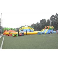 Waterproof Commercial Water Inflatable Theme Park With Plato PVC Tarpaulin