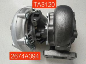 China Hydraulic TA3120 Turbo Excavator Spare Parts For Perkins Turbocharger 02200460 2674A153 on sale