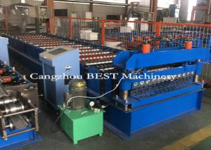 China Cold Steel Automatic Roll Forming Machine For Corrugated Roofing Panel PLC Control on sale