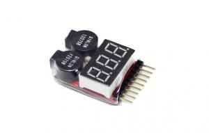 China 1-8S 2in1 RC Li-ion Lipo Battery Low Voltage Meter Tester Buzzer Alarm on sale