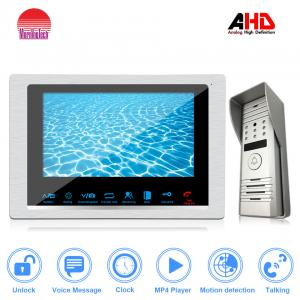 China 10.1 Inch sensor's button Smart home AHD video door phone with connect up to 6 indoor monitors Wholesale door bell on sale