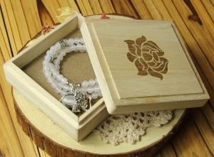 China wood jewelry box pine wood gift box small boxes on sale