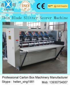 China Carton Making Machine Automatic And Manual Thin Blade Slitter Scorer Folder Gluer on sale