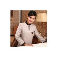 China Custom Cotton Three Color Hotel Housekeeping Staff Uniforms For Women on sale
