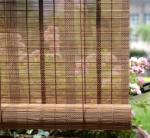 "OEM Multilayer 20""Wx48""L Wooden Woven Bamboo Blinds Roman Shade"
