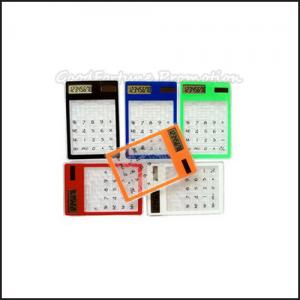 China Promotional printed logo Eco Abs Coloured Mini Maze Puzzle Game Calculator business gift on sale