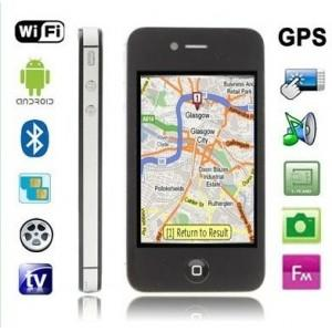 China 3.5inch Dual SIM quad band unlocked Android 2.3 Mobile Phone 4S with WIFI AGPS TV on sale