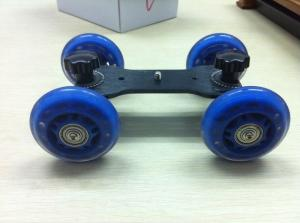 China Blue camera dolly compact Dolly Kit Skater wheel Camera Truck Stabilizer for 5D2 video on sale