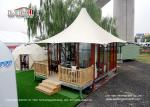 High Peak 5m Width 2 People Luxury Glamping Tents With Wooden Flooring System