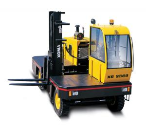 China Hydraulic Cylinder 3T 6T Side Loader Forklift Truck 1400MM Fork Length on sale