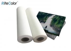 China Bright White 270gsm Polyester Canvas Rolls Matte Self Adhesive Blank Waterproof on sale