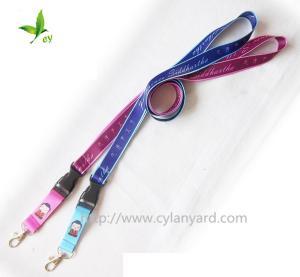 China Custom full color printed lanyards, discount designer colorful mobile phone lanyards bulk, on sale
