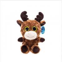 China Big Eyed Milu Deer Cute Plush Dolls With Velvet Antler Bright Color Stuff on sale