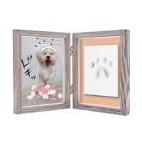 Paw Print Keepsake Frame Ornament , Non toxic Soft Light Pet Picture Frames