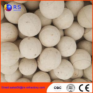 China Chemical Stability Refractory Alumina Ceramic Ball For Hydro Converter on sale