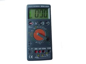 China Waterproof DMM Digital Multimeter With Diode hfE buzzer test on sale