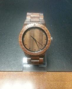 China Fashion Wooden Wrist Watch with brown color , recycled wood watches on sale