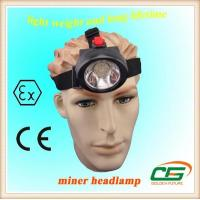 3.7 V Mini LED Miners Cap Lamp 4000lux 2.8Ah For Construction / Marine