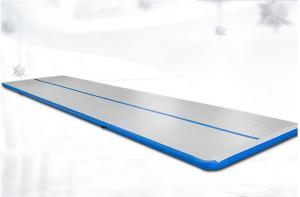 China PVC Inflatable Gymnastics Mat , Silk Printing Tumble Track Mats Color Customized on sale