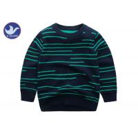 Irregular Stripes Boys Cardigan Sweaters Double Layer Pretty Warm Knitted Pullover