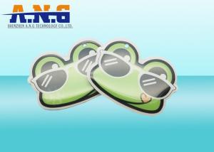 China Circular Reusable Waterproof HF rfid key tag with Epoxy Resins Material on sale