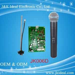 China Микрофон караоке ВХФ ДЖК006Д для ТВ андроида с модулем приемника микрофона on sale