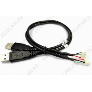 China UL2725 Black USB Extension Cable With A Male Type Connector For Counters PCB on sale