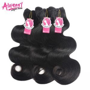 China Smooth Grade 10A Virgin Hair Weave , Mink Brazilian Body Wave Hair Bundles on sale