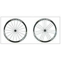 Alloy Spoke Carbon Clincher Bike Wheels 700c 38mm Pillar 23mm Width Rims