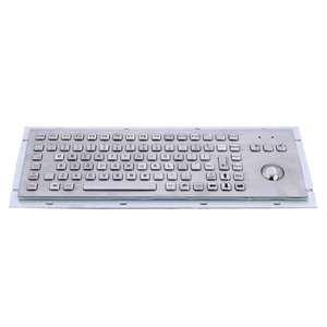 China 86 keys dust-proof metal industrial computer desktop keyboard with trackball MKB-F86-TB-DT on sale
