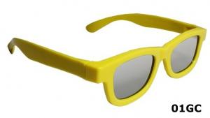 China CE ROHS And FCC Imported Raw Material Circular Polarized 3D Digital Cinema Glasses on sale
