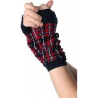 China Fashion Red / Green + Black Women's Knitting Arm Warmers Patterns with lightweight on sale