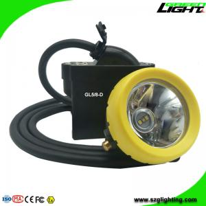 China High Low Beam Mining Head Lamp Waterproof LED Miner Headlight with USB Charging on sale