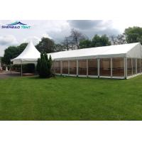 500 Guests Waterproof White PVC Party Tent For Concerts / Warehouse