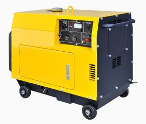 China Air Cooled 6KVA 148kg Diesel Portable Generator For Home Use on sale