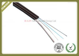 China Singlemode FTTH Fiber Optic Cable Metal Strength Member For High Speed Optical Routes on sale