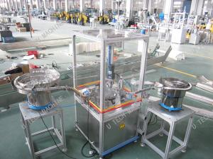 China Flip Top Cap Assembly Machine With Hopper Conveyor High Equipped Sealing on sale