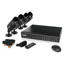 China DVR Kits with Weatherproof IR Camera, 4×20m BNC Wire, 1×4CH H.264 DVR and IR Controller  on sale