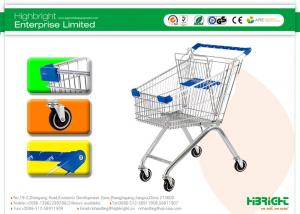China 60L to 270L Supermarket European style Shopping Trolleys wheels A Series HBE-A-80L on sale