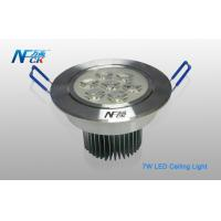China 7watt 4000K LED Recessed Ceiling Lights , High Power Led Ceiling Light 30 / 45 Degree on sale