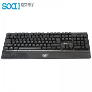 Quality AULA SI-890S Black Color RGB Backlight Blue Switch Top 10 Gaming Mechanical for sale