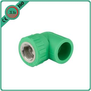 China Polypropylene Random Ppr Elbow With Thread Ppr Brass Fittings Long Life Span on sale