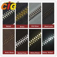 China Smooth Sliding Metal Zipper For Garments Accessories , Polished Teeth Zipper Wholesale on sale