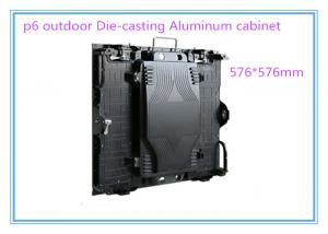 China High Definition P 6 Rental LED Displays Die-casting Aluminum Cabinet 576*576 mm 6500nits High Brightness on sale